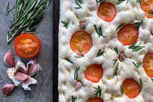 Focaccia - Rosemary; Tomato and Garlic