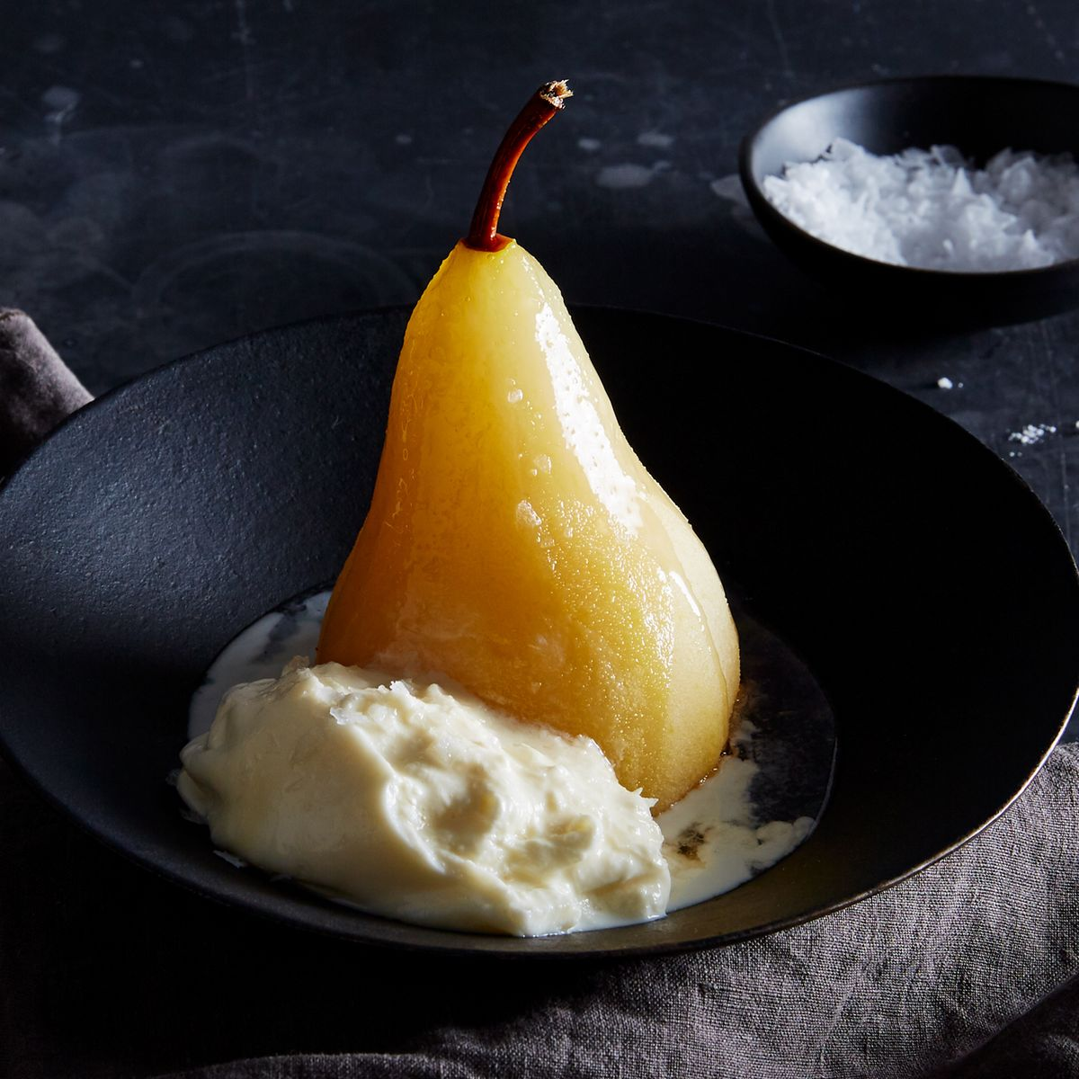 Why You Should Be Poaching Pears (& Topping Them With Burrata)