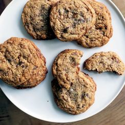 Cornmeal Toffee Chocolate Chip Cookies