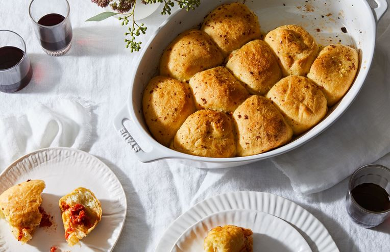 Garlic Bread Meets Pizza in These Fluffy, Pull-Apart Dinner Rolls