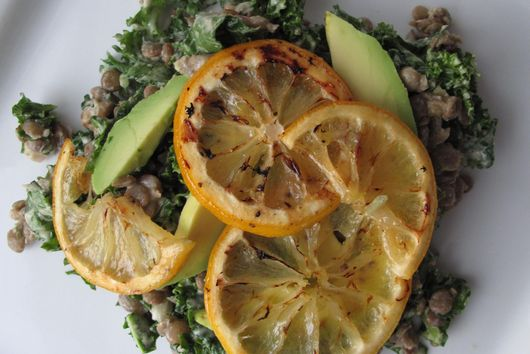 Lentil Salad with Roasted Lemon