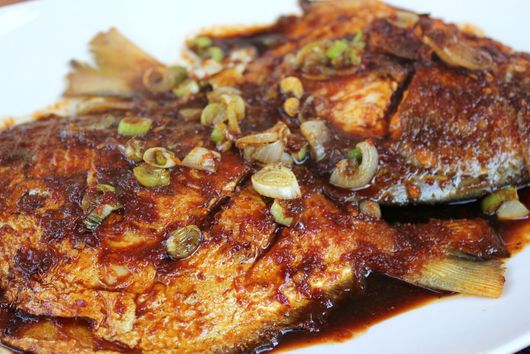 Pomfret er Tok(fish cooked in tamarind)