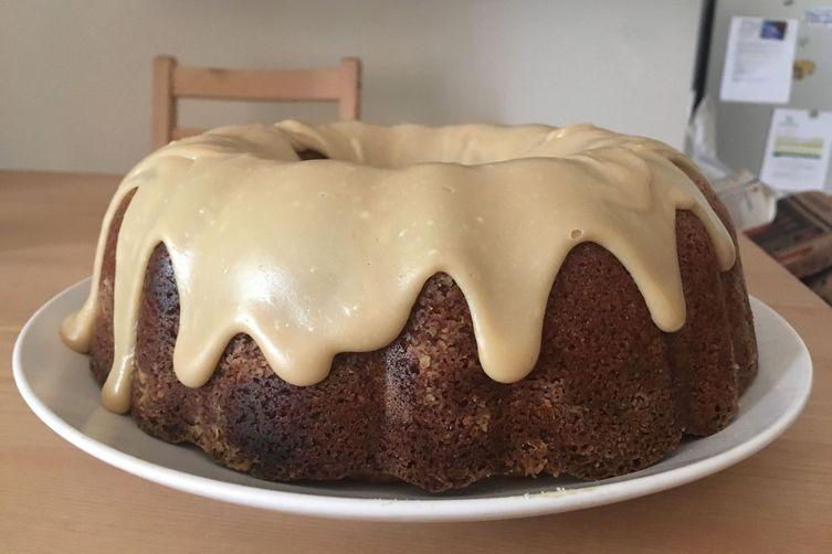 Rustic Apple Cake with Penuche Glaze