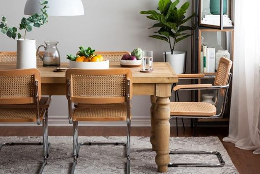 A Brief History of the Dining Chair You're Seeing Everywhere