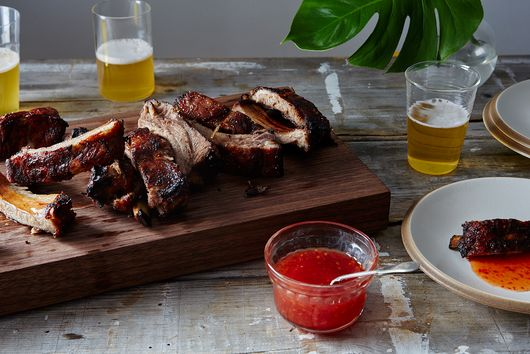 Mekhong-Style Baby Back Ribs with Thai Sweet Chili Sauce