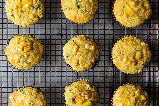 Double Corn, Quinoa & Cheddar Muffins