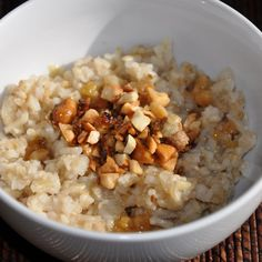 Sweet and Savory Oat and Brown Basmati Porridge