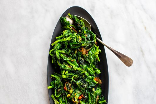 Spicy Sautéed Snow Pea Tips