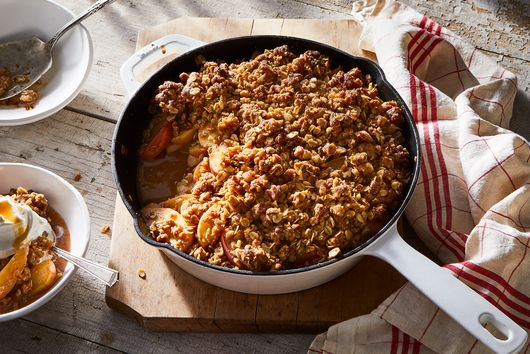 Skillet Miso-Apple Crisp