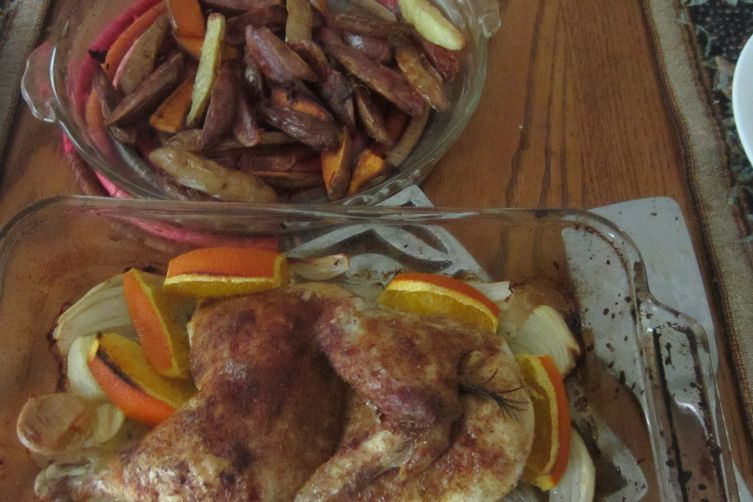 Chicken with orange, cinnamon, cumin
