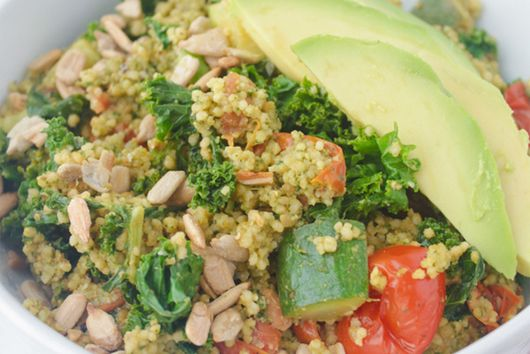 Vegetable Couscous with Sunflower Pesto