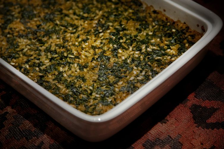 Peasant Leek and Spinach Casserole