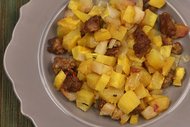 Delicata Squash & Apple Hash