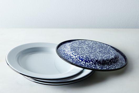 Porcelain Enamelware Plates (Sets of 4)