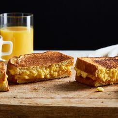 Breakfast Sandwiches Are Extra-Gooey-Cheesy in Genius Land