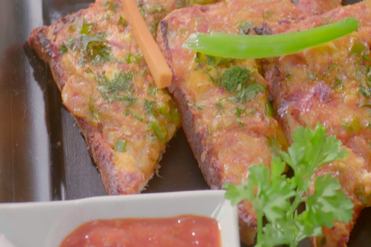 Chilli Paneer Cheese Toast By Harpal