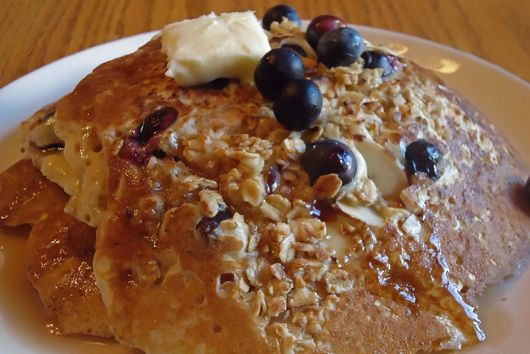 Blueberry Crisp Pancakes