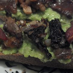 Fava Bean & Morel bruschetta