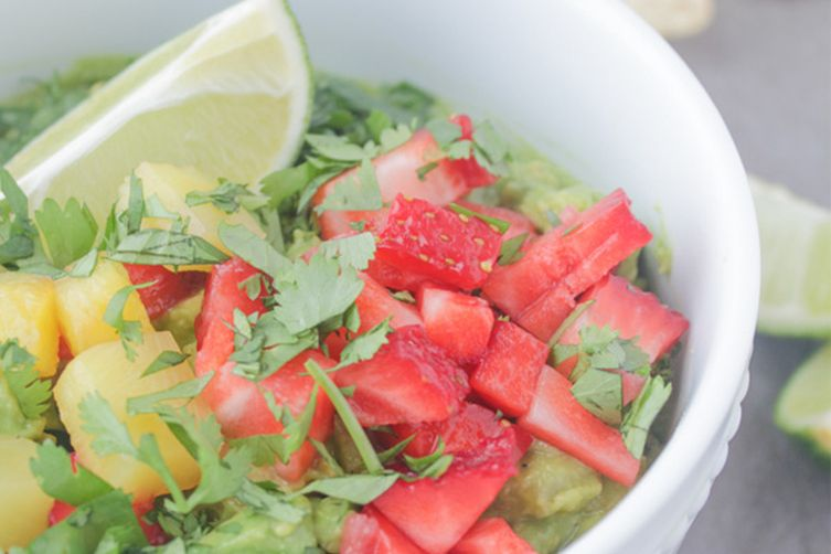 Strawberry Pineapple Guacamole
