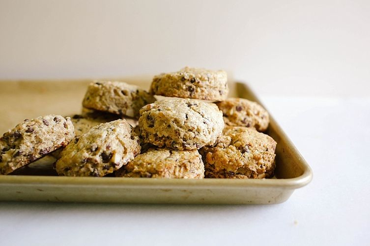 Chocolate Coffee Almond Scones