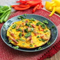 Three Pepper Stovetop Frittata