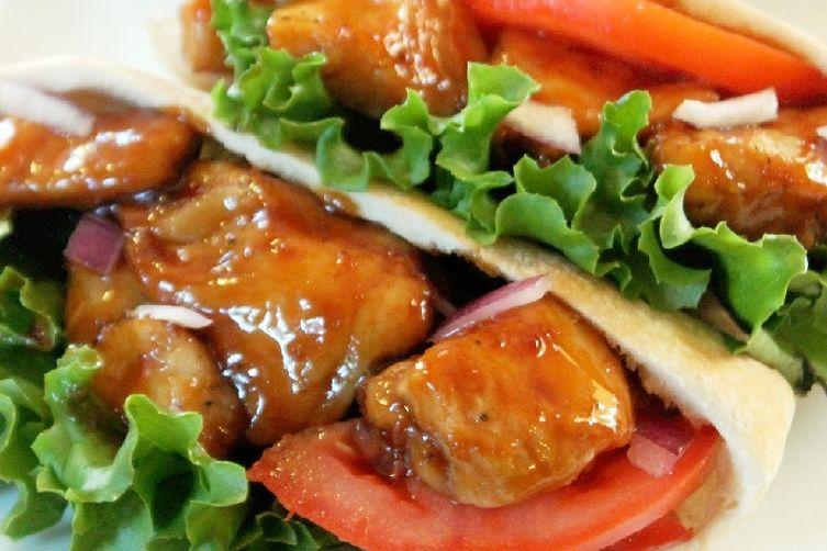 Teriyaki Chicken Pita Pocket Sandwiches