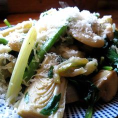 Spring Vegetable Pasta with Artichoke and Lemon