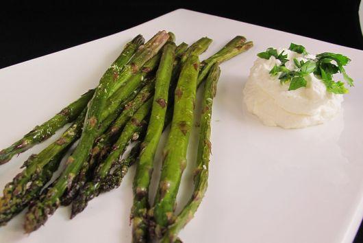 Roasted Asparagus with Lemon Cream