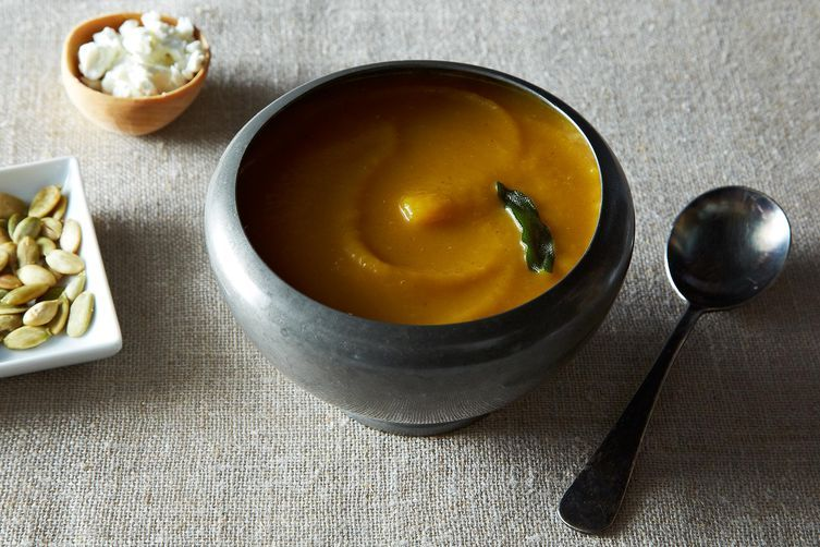 Pumpkin Beer and Goat Cheese Soup on Food52