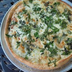 Caesar Spinach Pizza IN ABOUT AN HOUR!