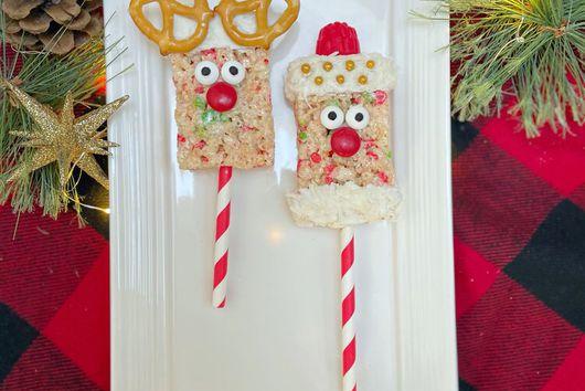 Reindeer & Santa Rice Krispies Bars