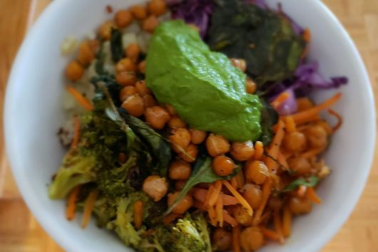 Roasted Root Veggie and Chickpea Power Bowl