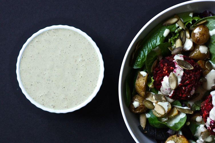 Creamy Maple Mustard Dressing (vegan)