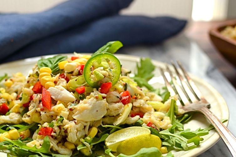 sweet corn and crab salad