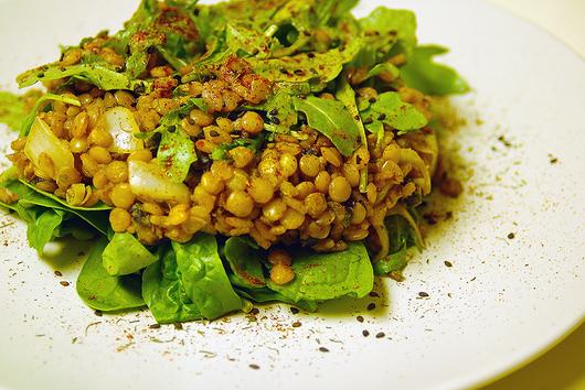 Lentil Arugula Range Salad