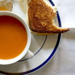 Grilled Cheese and Fresh Tomato Soup