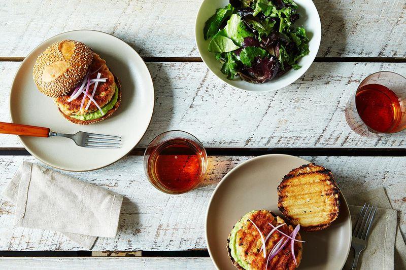 Salmon Burgers with Avocado Aioli