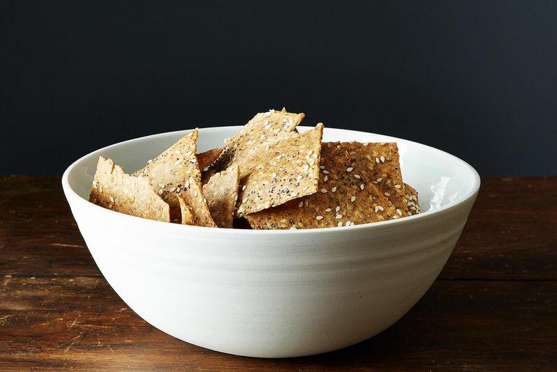 Peter Reinhart's Crispy Rye and Seed Crackers