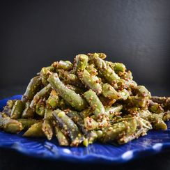 Simple Mustardy Green Beans