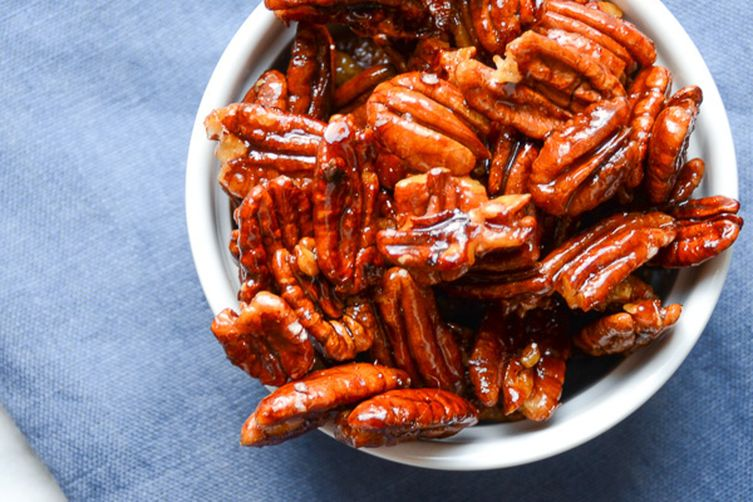 glazed spiced pecans