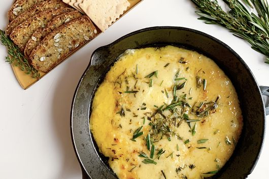 Baked Gruyère With Garlic & Herbs