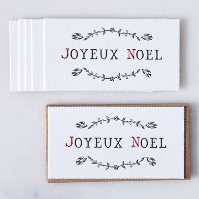 Joyeux Noel Cards (Set of 6)
