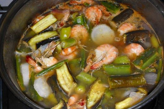 Shrimp Sinigang with Tamarind and Miso
