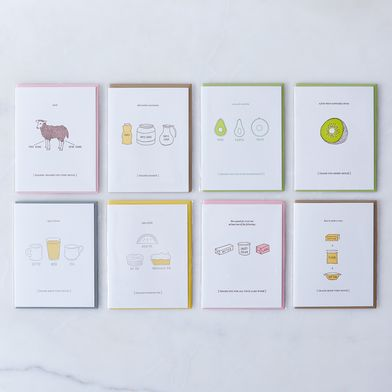 Food-Inspired Thank You Cards (Pack of 8)