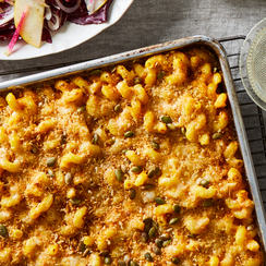 Sheet-Pan Mac & Cheese With Pumpkin & Brown Butter