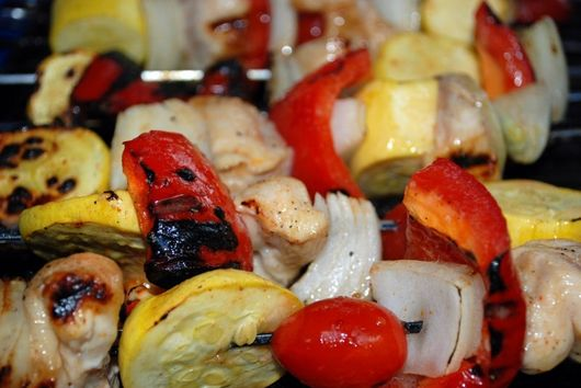 Grilled Margarita Chicken Skewers with Spanish Wild Rice