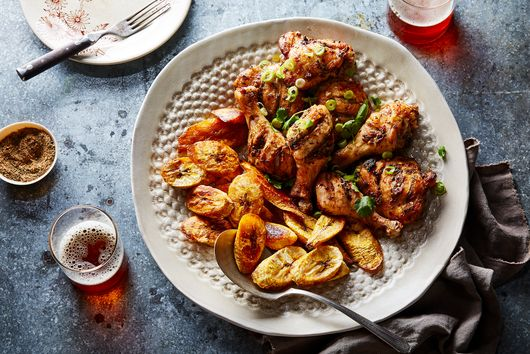 Jollof Spice Does All The Work in This Hands-Off Chicken & Plantain Bake