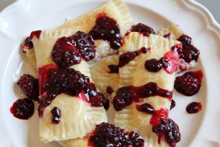 Lemon Ricotta Blackberry Dumpling Blintzes