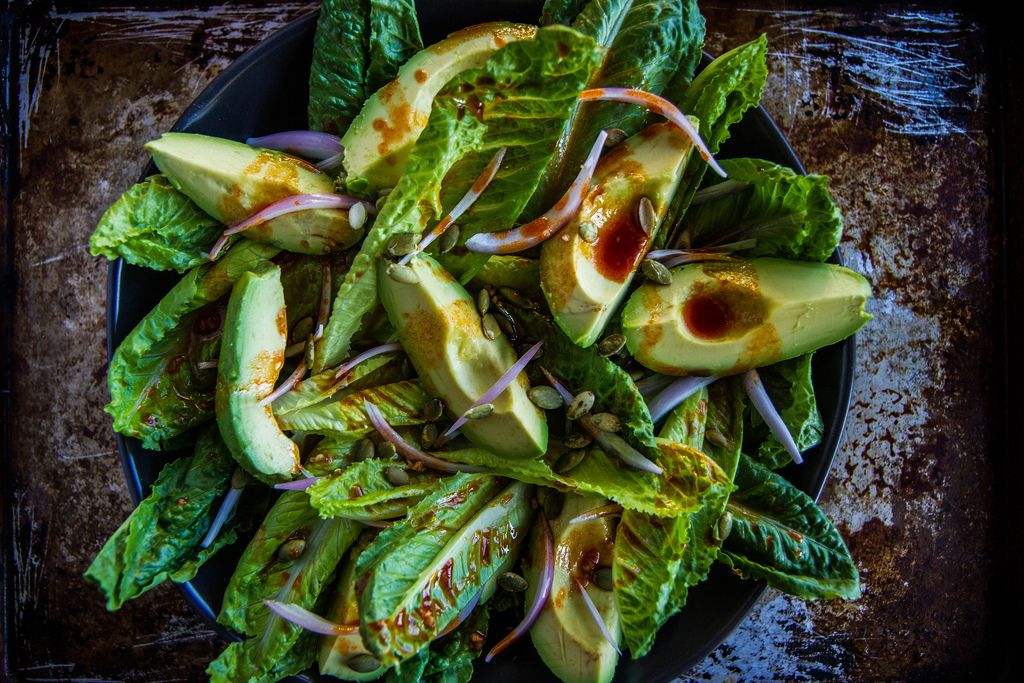 Smoky Romaine Salad