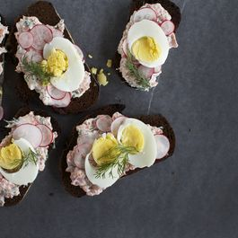 open faced sandwiches by Hannah Petertil